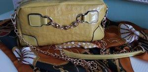 Carry Bag lime yellow imitation leather