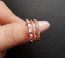 Anello d'oro color oro rosa-bianco