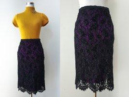 Traumhafter Spitzenrock schwarz lila S/XS