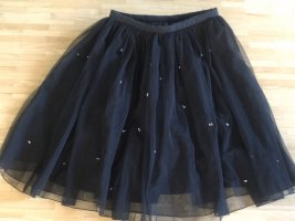 Marc Cain Tulle Skirt black-silver-colored