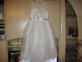 Suknia ślubna biały Tkanina z mieszanych włókien