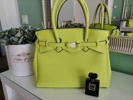 Save my bag Torba shopper zielona łąka Poliuretan