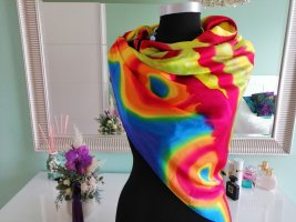 Pañuelo de seda multicolor Seda