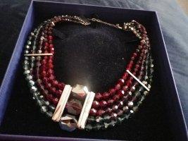 Swarovski Collar estilo collier multicolor tejido mezclado