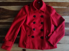 H&M Divided Trench Coat red