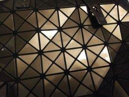 Trend Bao PU-Leder Blogger Tasche Schultertasche Shopper faltbar bronze