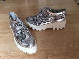 Carmen Steffens Lace Shoes silver-colored