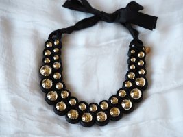Hallhuber Collier Necklace black-gold-colored