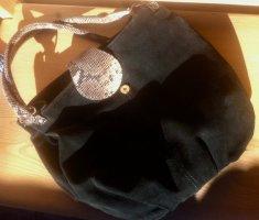 TREND: super guter Zustand: echt Velourleder Tasche groß, gefütt.