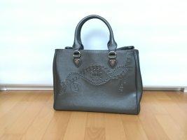 Trendige dunkelgraue Handtasche von Liu Jo mit Logoprägung.