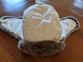 Woolrich Cappello in pelliccia bianco sporco