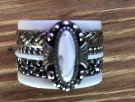 ixxxi Statement ring zilver-wit