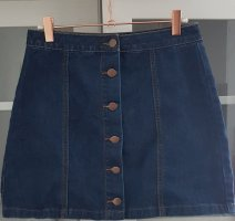 Forever 21 Denim Skirt dark blue cotton