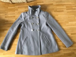 Hallhuber Abrigo corto color plata-gris claro Lana