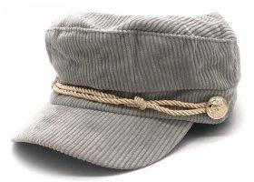 Cappello con visiera grigio-oro