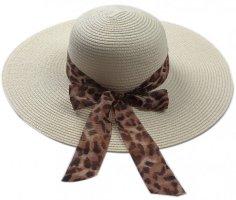 Chapeau de soleil beige clair-brun