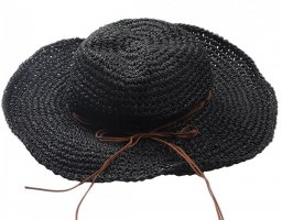 Chapeau de soleil noir-brun