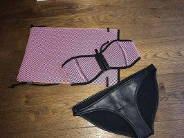 Triangl Bikini rosa-nero
