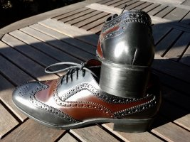 Triver Flight Wingtip Shoes multicolored leather