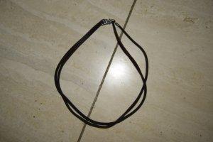 Trollbeads Lederkette, Silberarmband, 4 Muranobeads, 2 Verschlüsse