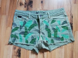 tropical jeans shorts