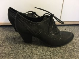 Marco Tozzi Lace Shoes black-dark grey