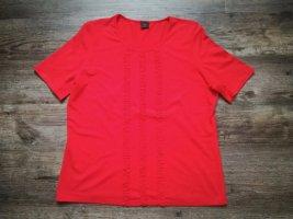 *tru. SHIRT* T-Shirt / rot mit Stoffapplikationen / Gr. 44
