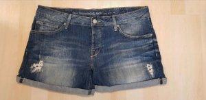 Mustang Short en jean bleu