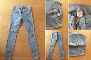 True Religion Jeans skinny gris vert