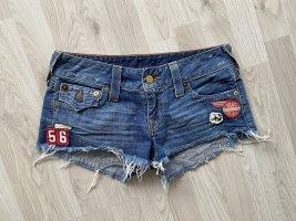 True Religion Shorts azul acero-azul celeste