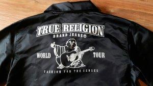 True Religion Chaqueta bomber negro Nailon