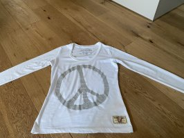 True Religion T-shirt blanc-argenté