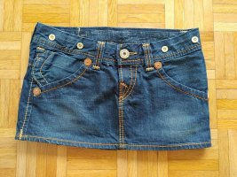 True Religion Mini-jupe bleu coton