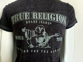 True Religion T-shirt col en V multicolore
