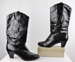 Vintage Western Laarzen veelkleurig Leer