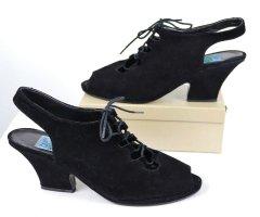 Vintage Escarpins à lacets noir