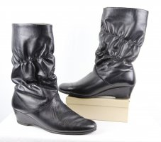 Vintage Slouch Booties black leather