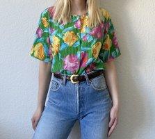 True Vintage 90er Bluse Retro Blumenbluse