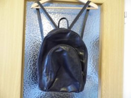 Vintage Laptop Backpack black leather