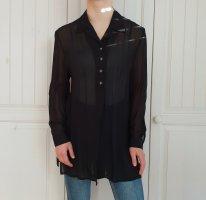 True Vintage Hemd Bluse schwarz 40 oversize Top T-shirt shirt tshirt Pullover Cardigan