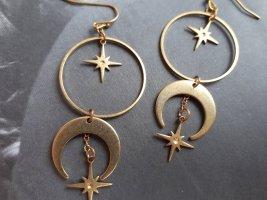 True Vintage Messing Celestial Ohrringe in Bronze