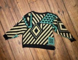 True Vintage Pullover mit geometrischer Musterung