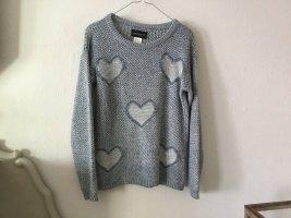 Amy Vermont Maglione di lana bianco-azzurro