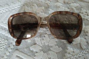 Original Vintage Kwadratowe okulary przeciwsłoneczne srebrny-brąz