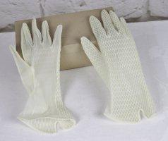 True Vintage zarte Spitzenhandschuhe Handschuhe Größe 6 6,5 Weiß Creme Netz Braut