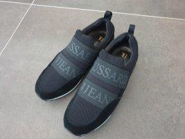 Trussardi Jeans Slip-on Sneakers black-white mixture fibre