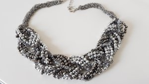 Tschibo Statement Necklace silver-colored