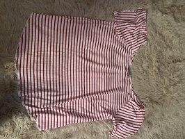Clockhouse Camisa de un solo hombro blanco-rojo