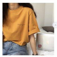 Yesstyle Oversized shirt licht Oranje-goud Oranje