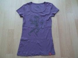 Tshirt von EDC by Esprit in Gr. XS 34 lila mit Engel